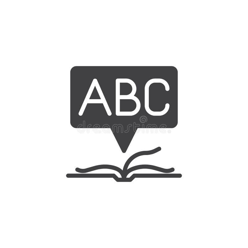 Ανοικτό διανυσματικό εικονίδιο βιβλίων λεξικών ελεύθερη απεικόνιση δικαιώματος