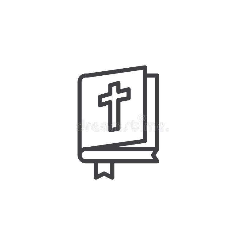 Ανοικτό εικονίδιο περιλήψεων βιβλίων Βίβλων διανυσματική απεικόνιση