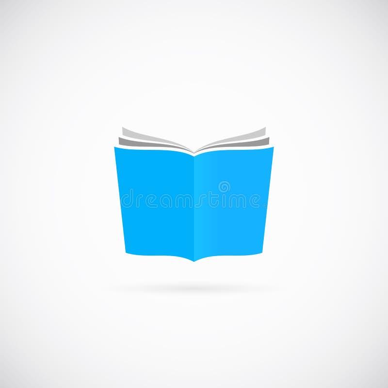 Ανοικτό εικονίδιο συμβόλων βιβλίων διανυσματικό ή πρότυπο λογότυπων ελεύθερη απεικόνιση δικαιώματος
