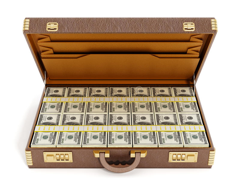 Ανοικτό εκλεκτής ποιότητας σύνολο χαρτοφυλάκων των χρημάτων διανυσματική απεικόνιση