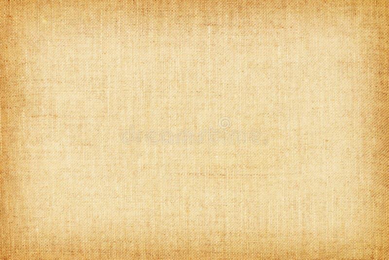 Ανοικτό κίτρινο φυσική σύσταση λινού για το υπόβαθρο στοκ φωτογραφία