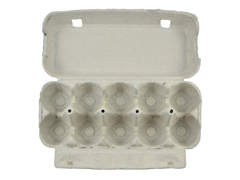 Ανοικτό κιβώτιο αυγών χαρτονιού στοκ εικόνα με δικαίωμα ελεύθερης χρήσης