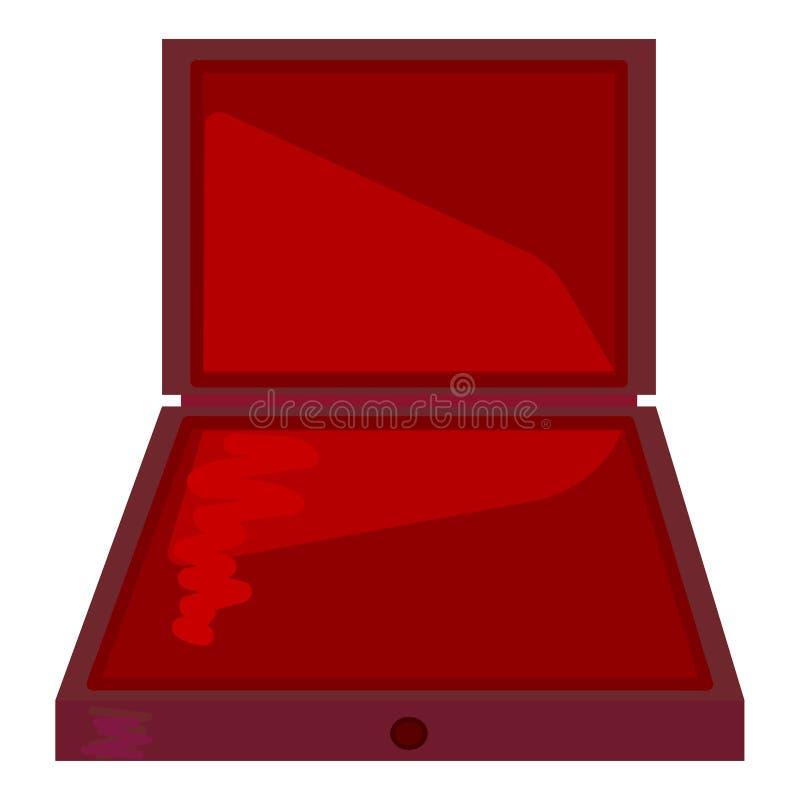 Ανοικτό κιβώτιο δώρων συσκευασίας χαρτονιού προϊόντων r r r απεικόνιση αποθεμάτων