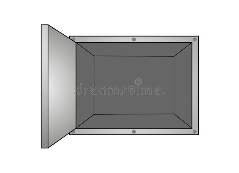 Ανοικτό κιβώτιο σιδήρου διανυσματική απεικόνιση