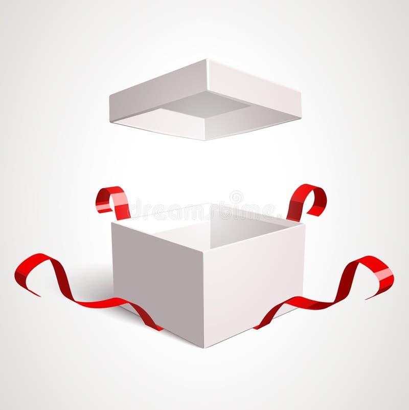Ανοικτό κιβώτιο δώρων απεικόνιση αποθεμάτων