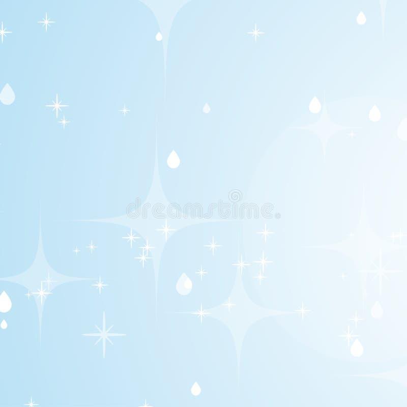 Ανοικτό μπλε αφηρημένο υπόβαθρο με τα αστέρια και bokeh Όμορφος ουρανός r ελεύθερη απεικόνιση δικαιώματος