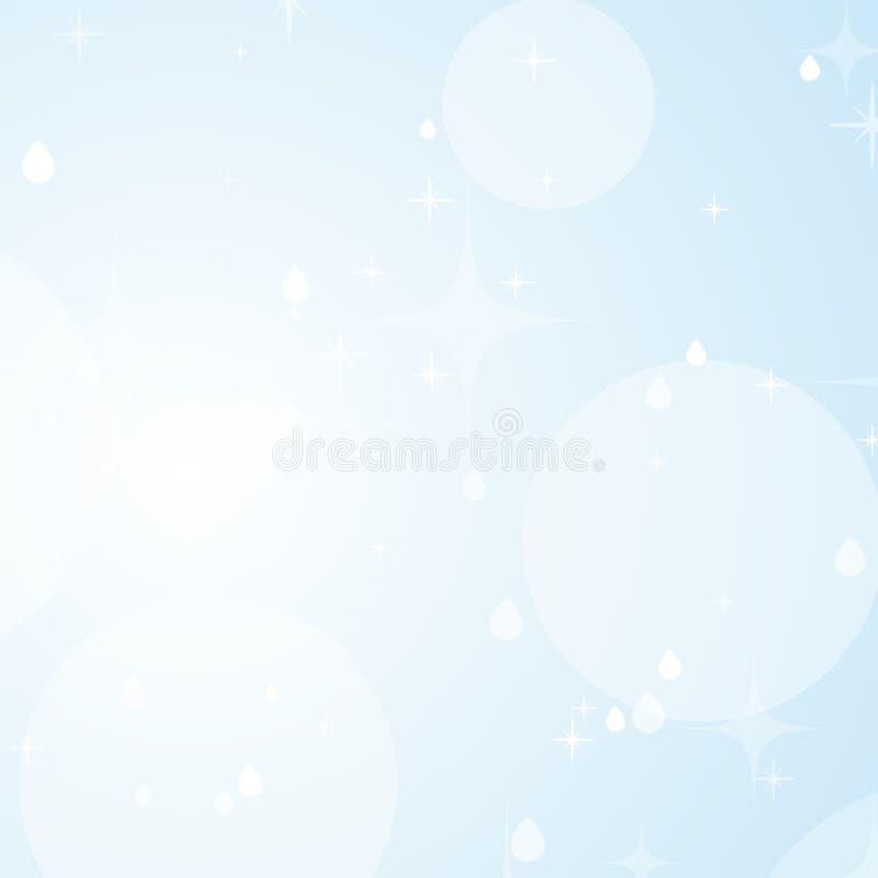 Ανοικτό μπλε αφηρημένο υπόβαθρο με τα αστέρια και bokeh Όμορφος ουρανός r απεικόνιση αποθεμάτων