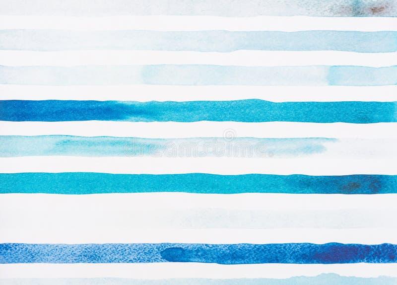 ανοικτό μπλε και τυρκουάζ γραμμές watercolor στοκ φωτογραφία με δικαίωμα ελεύθερης χρήσης