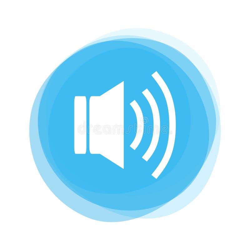 Ανοικτό μπλε κουμπί: Ομιλητής διανυσματική απεικόνιση