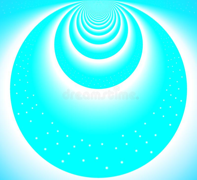 Ανοικτό μπλε κύκλοι από τον ουρανό απεικόνιση αποθεμάτων