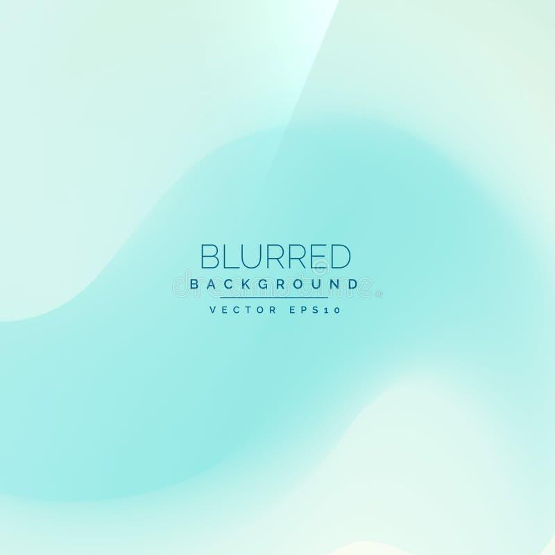Ανοικτό μπλε υπόβαθρο στο ύφος θαμπάδων ελεύθερη απεικόνιση δικαιώματος