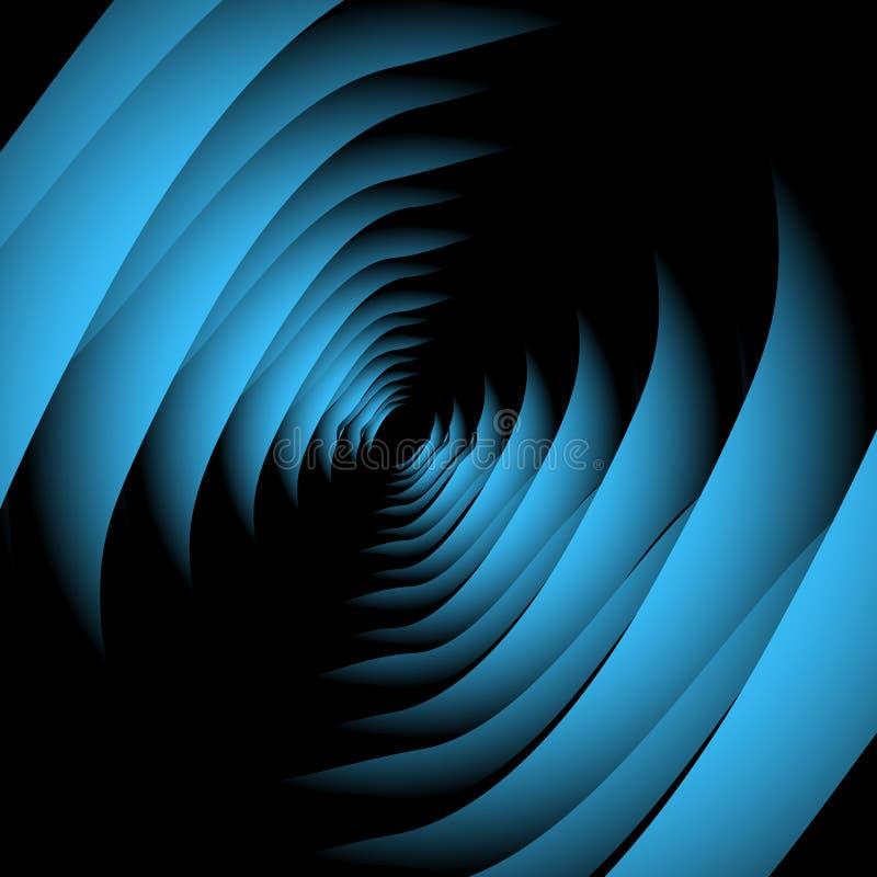 Ανοικτό μπλε οπτική παραίσθηση απεικόνιση αποθεμάτων