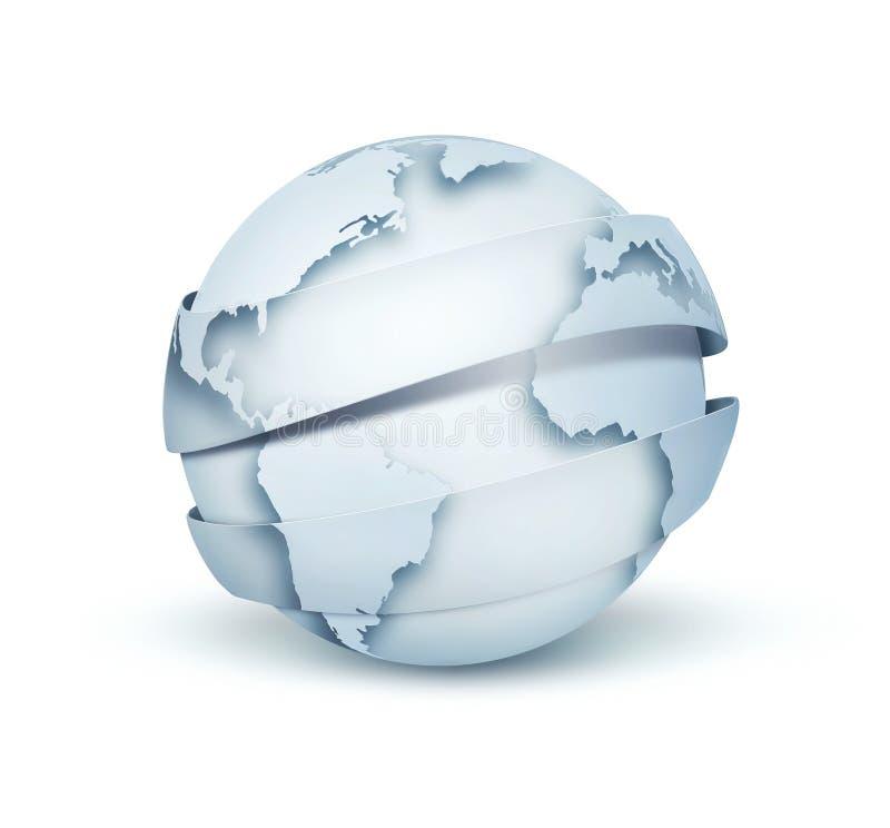 Ανοικτό μπλε σφαίρα απεικόνιση αποθεμάτων