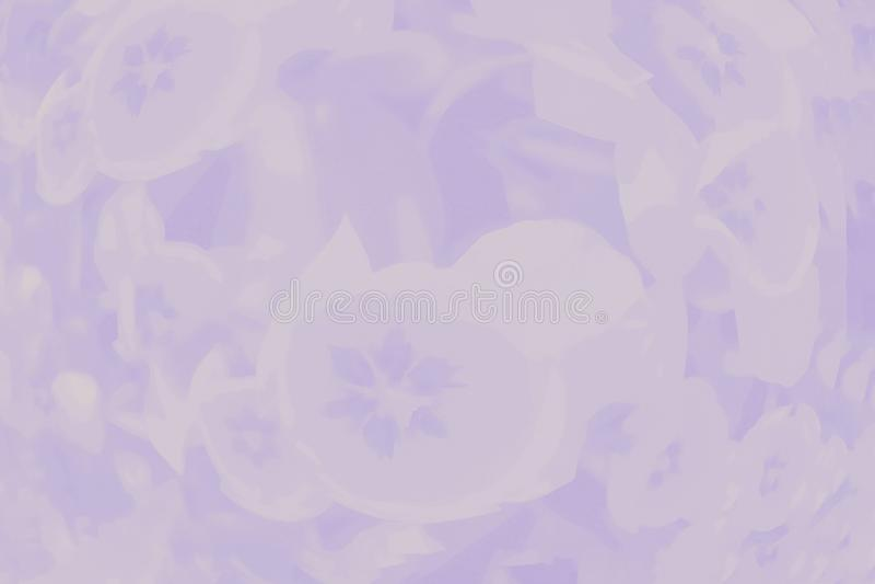 Ανοικτό μωβ ιώδες υπόβαθρο χρώματος με το λεπτό floral σχέδιο τουλιπών απεικόνιση αποθεμάτων