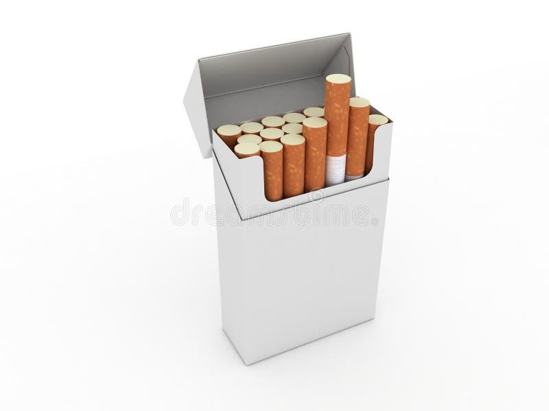 ανοικτό πακέτο τσιγάρων διανυσματική απεικόνιση
