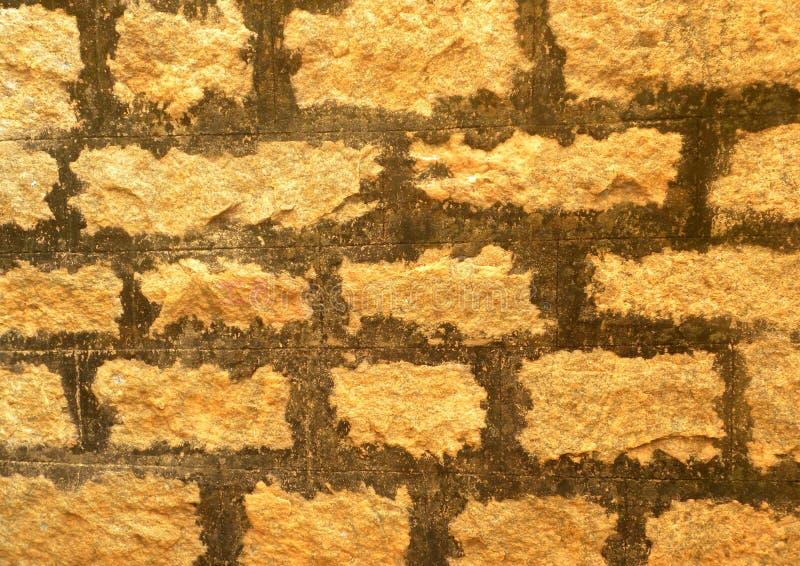 Ανοικτό πορτοκαλί και καφετί υπόβαθρο συμπαγών τοίχων στοκ εικόνες