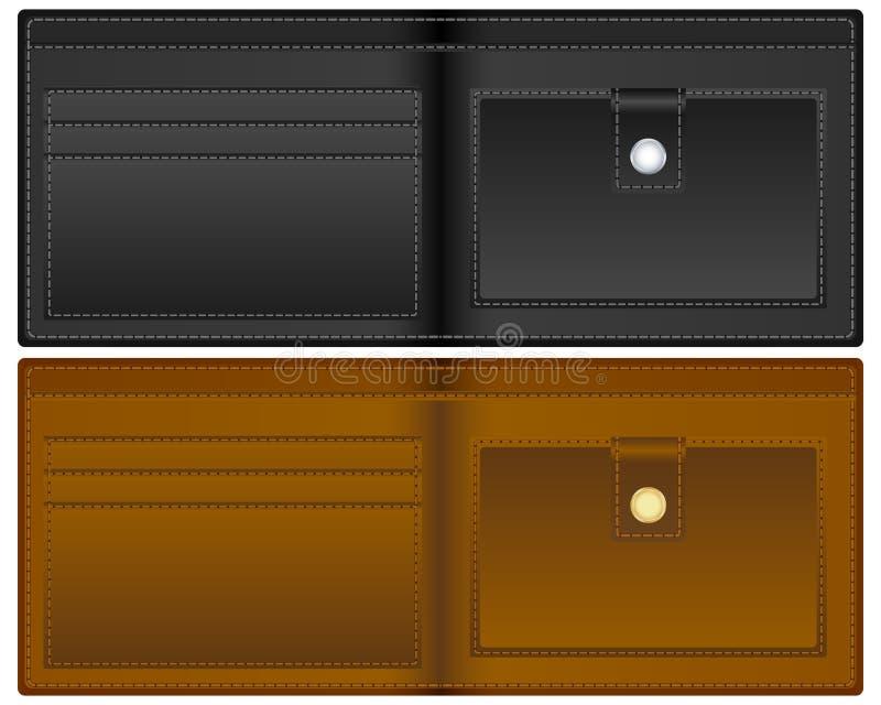 ανοικτό πορτοφόλι διανυσματική απεικόνιση