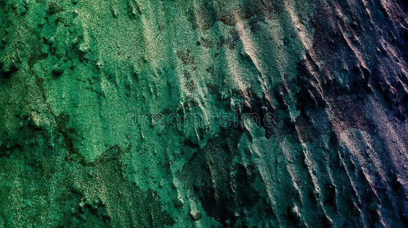 Ανοικτό πράσινο βαθύς - τα πορφυρά αποτελέσματα μιγμάτων χρώματος αφαιρούν την κατασκευασμένη διανυσματική απεικόνιση ταπετσαριών διανυσματική απεικόνιση