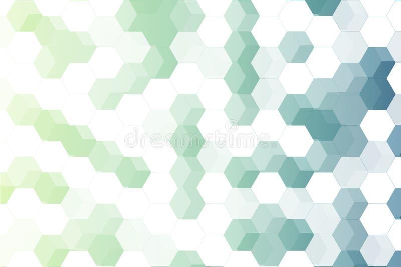 Ανοικτό πράσινο και μπλε hexagon διαφάνεια EPS10 διανυσματική απεικόνιση