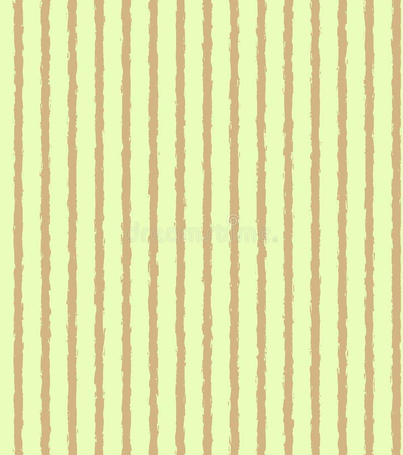 Ανοικτό πράσινο σχέδιο με τα βρώμικα καφετιά κάθετα λωρίδες ελεύθερη απεικόνιση δικαιώματος