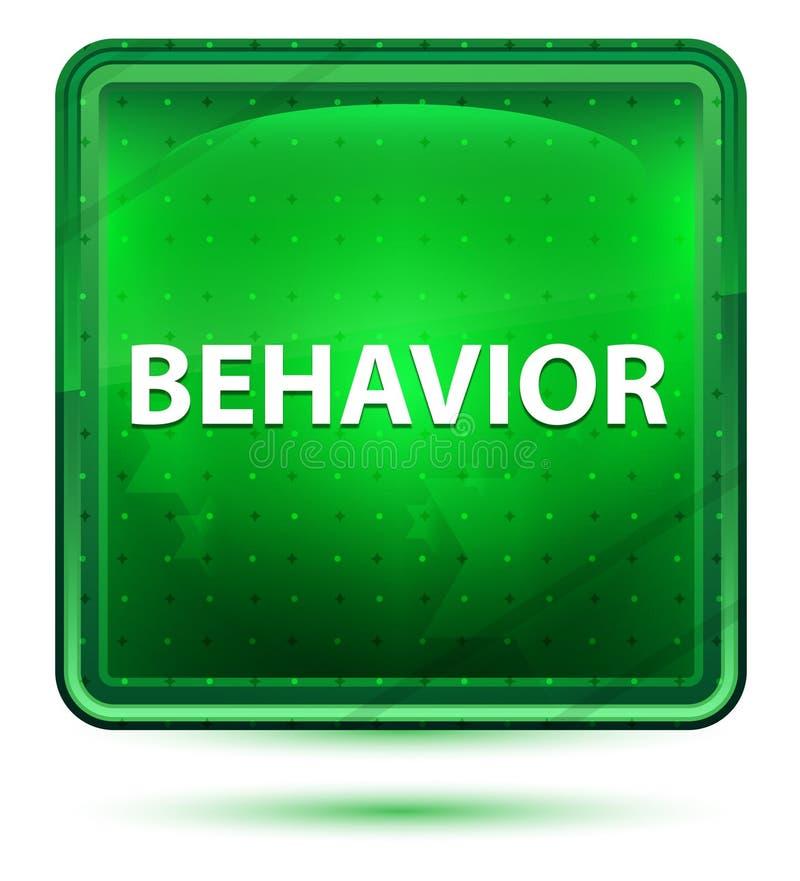 Ανοικτό πράσινο τετραγωνικό κουμπί νέου συμπεριφοράς απεικόνιση αποθεμάτων