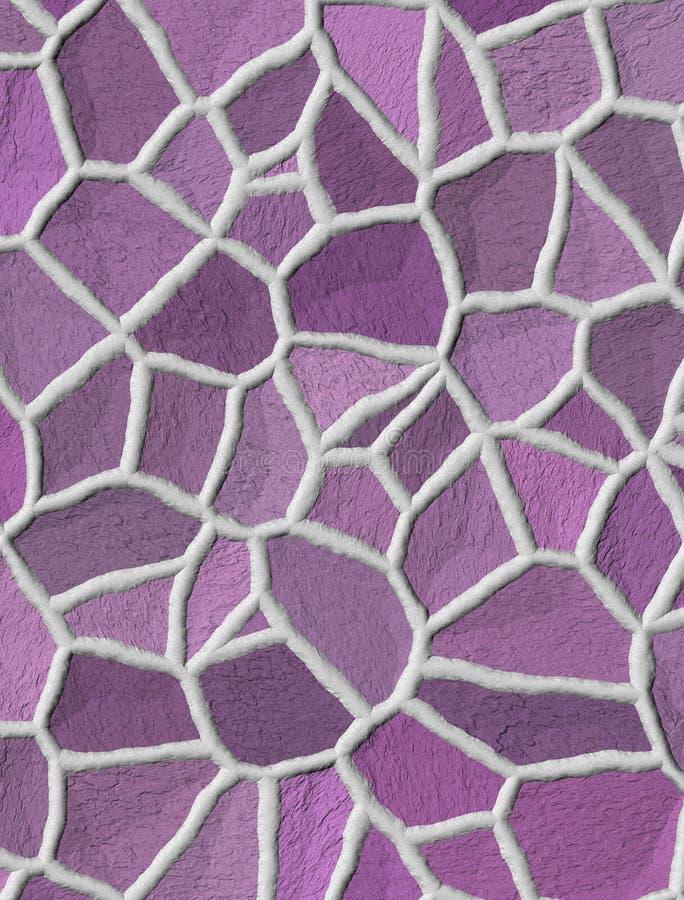 Ανοικτό ροζ άνευ ραφής σχέδιο πετρών απεικόνιση αποθεμάτων