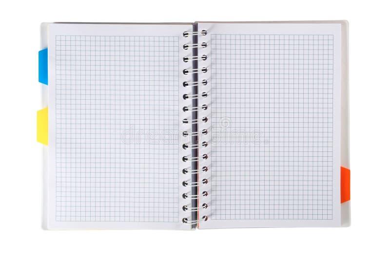 Ανοικτό σημειωματάριο στοκ εικόνες