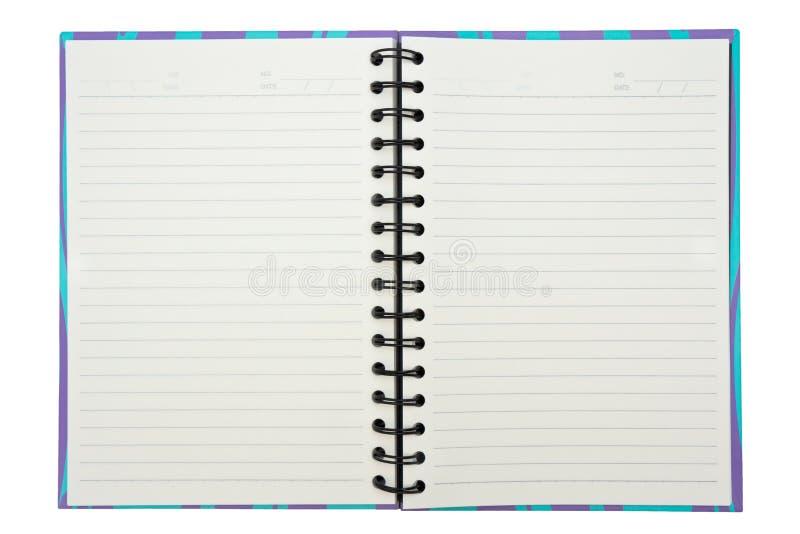 Ανοικτό σημειωματάριο στοκ εικόνα με δικαίωμα ελεύθερης χρήσης