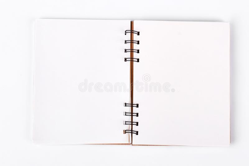 Ανοικτό σπειροειδές σημειωματάριο, τοπ άποψη στοκ εικόνες με δικαίωμα ελεύθερης χρήσης