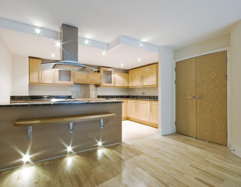ανοικτό σχέδιο κουζινών στοκ φωτογραφίες