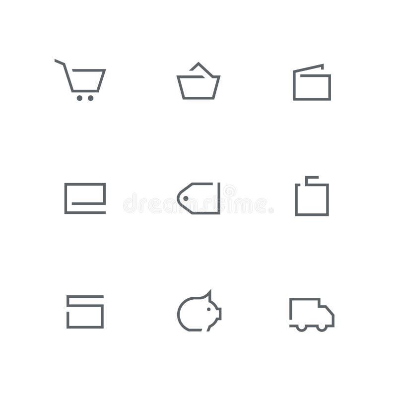 Ανοικτό σύνολο 04 εικονιδίων περιλήψεων απεικόνιση αποθεμάτων