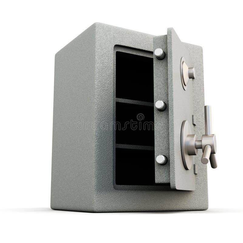 ανοικτό χρηματοκιβώτιο πορτών απεικόνιση αποθεμάτων