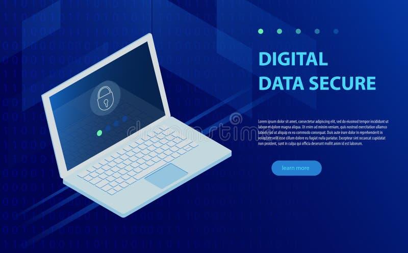Ανοικτό lap-top με τη μορφή έγκρισης στην οθόνη, την προσωπικές προστασία δεδομένων και την επεξεργασία, πρωτόκολλο αποθήκευσης π απεικόνιση αποθεμάτων
