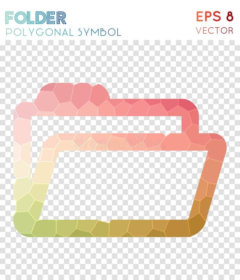 Ανοικτό polygonal σύμβολο φακέλλων ελεύθερη απεικόνιση δικαιώματος