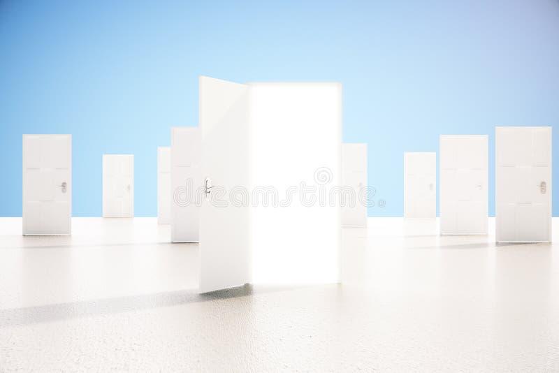 Ανοιχτή πόρτα έννοιας επιτυχίας ελεύθερη απεικόνιση δικαιώματος