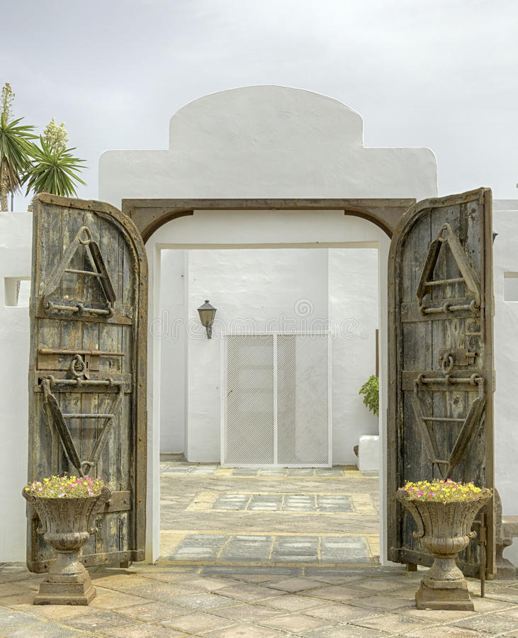 Ανοιχτή πόρτα - BLANCA Lanzarote Playa στοκ εικόνες