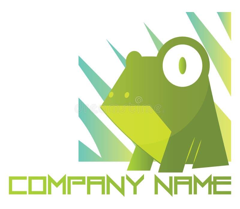 Ανοιχτόχρωμος πράσινος βάτραχος με απεικόνιση λογότυπου με μεγάλα μάτια σε ένα ελεύθερη απεικόνιση δικαιώματος