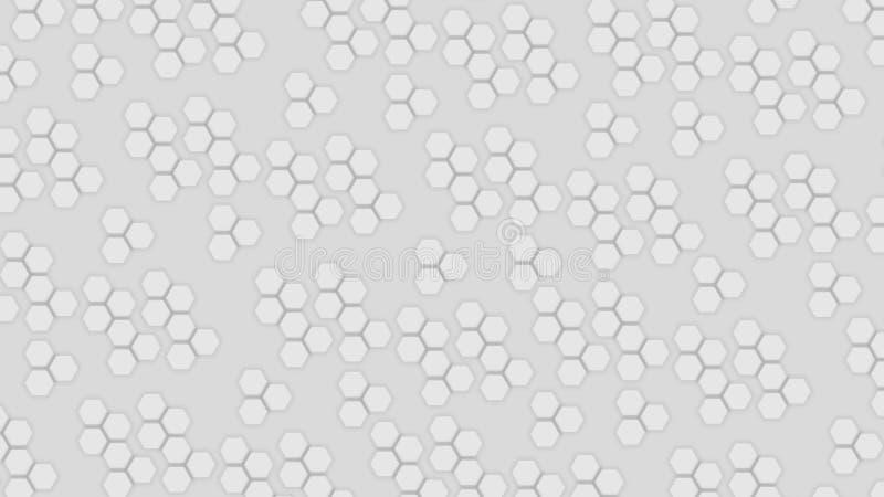 Ανοιχτό γκρι φόντο με επίπεδα αφηρημένα εξάγωνα ελεύθερη απεικόνιση δικαιώματος
