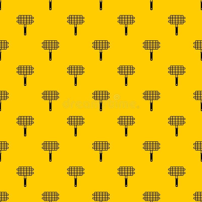 Ανοξείδωτο διάνυσμα σχεδίων καλαθιών στρατοπέδευσης σχαρών σχαρών διανυσματική απεικόνιση