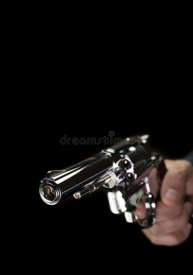 Ανοξείδωτο ύφος κάλυψης βιβλίων χεριών πυροβόλων όπλων ή σκοπευτών διαθέσιμο στοκ εικόνα