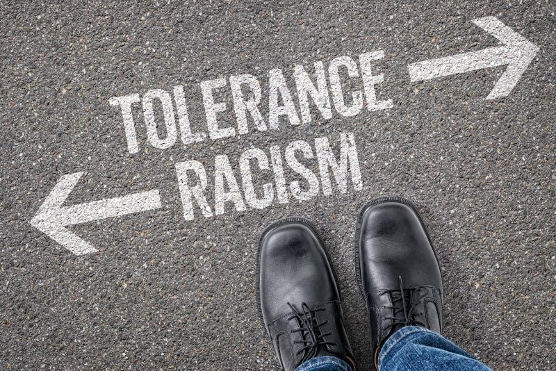 Ανοχή ή ρατσισμός στοκ εικόνα
