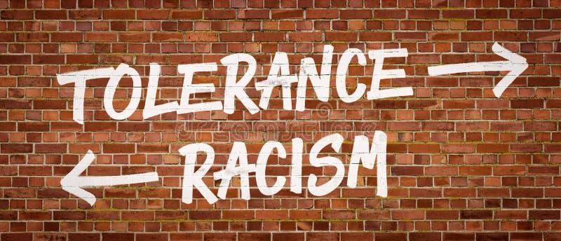 Ανοχή ή ρατσισμός στοκ εικόνες