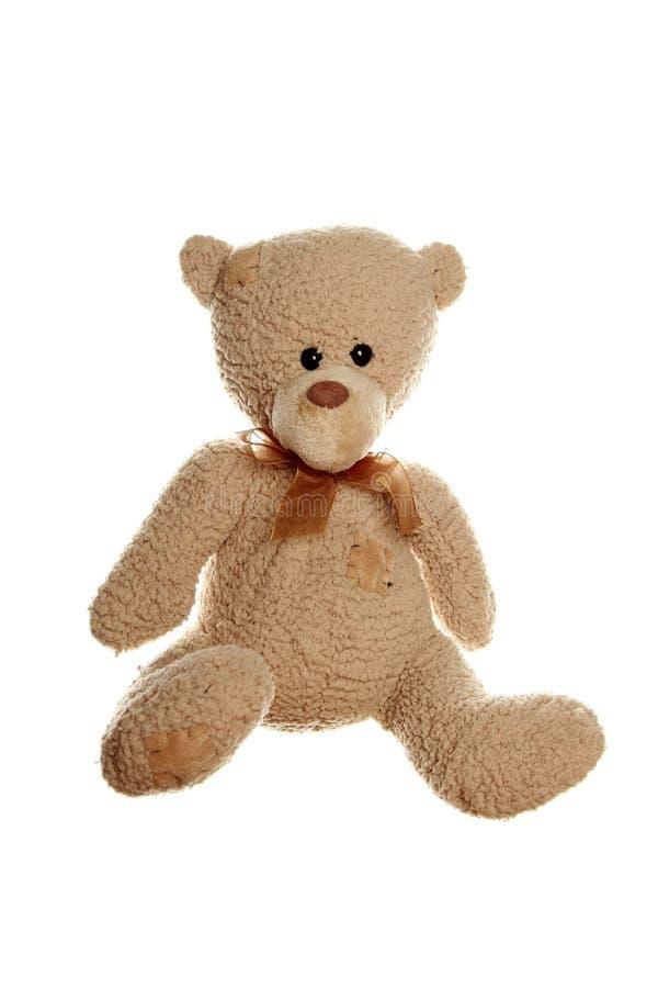 αντέξτε απομονωμένο teddy στοκ φωτογραφία με δικαίωμα ελεύθερης χρήσης