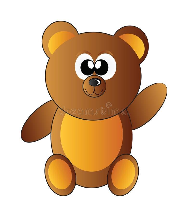 αντέξτε ευτυχή teddy απεικόνιση αποθεμάτων