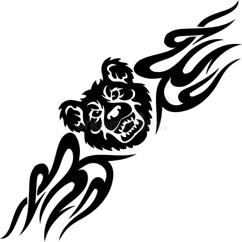 Αντέξτε και συμμετρικά tribals - διανυσματική απεικόνιση. διανυσματική απεικόνιση