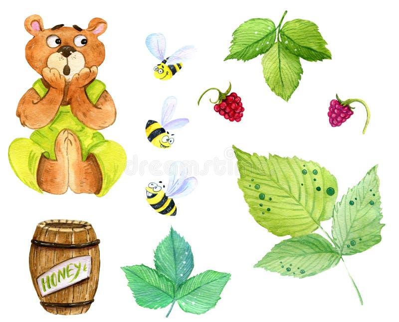 Αντέξτε και σύνολο μελισσών τέχνης συνδετήρων στοκ εικόνα