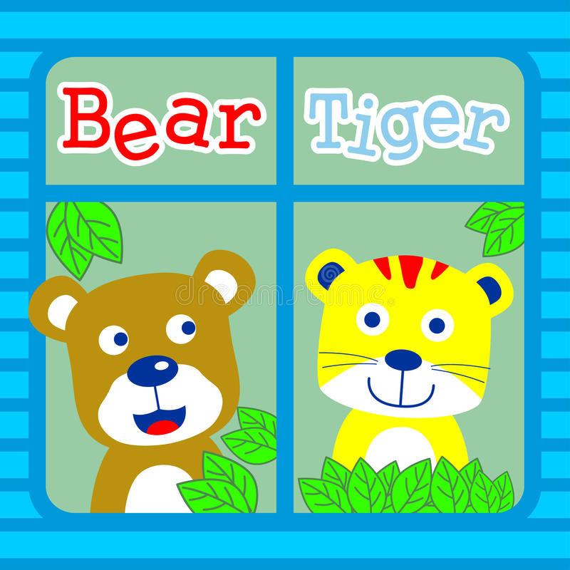 Αντέξτε και τίγρη διανυσματική απεικόνιση