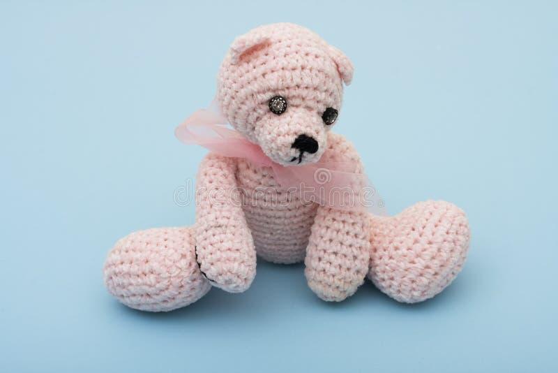 αντέξτε ρόδινο teddy στοκ εικόνες