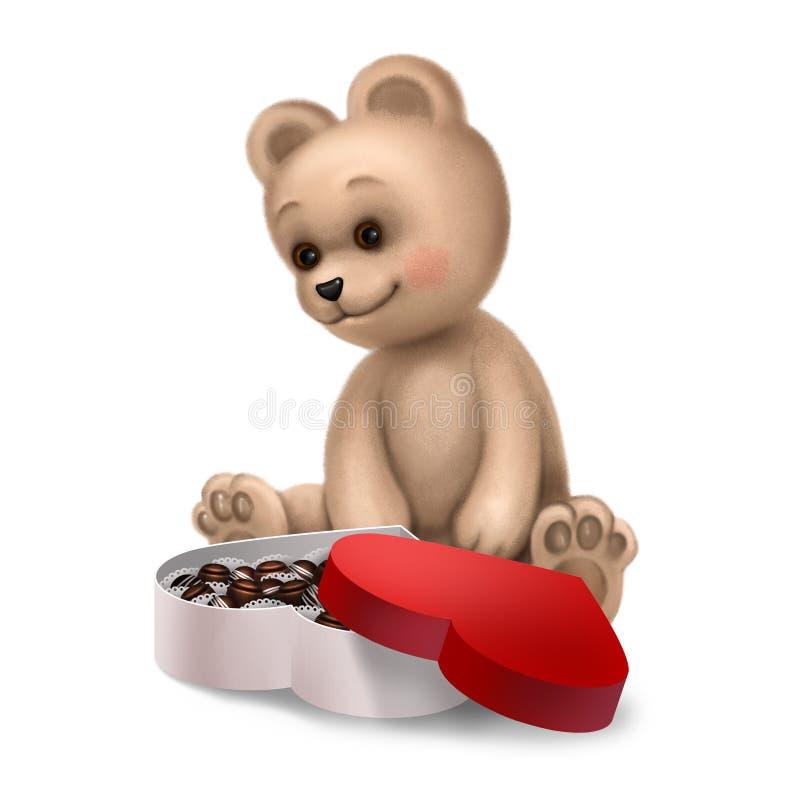Download αντέξτε τα γλυκά κιβωτίων Tedd Απεικόνιση αποθεμάτων - εικονογραφία από ημέρα, χαιρετισμός: 22799305