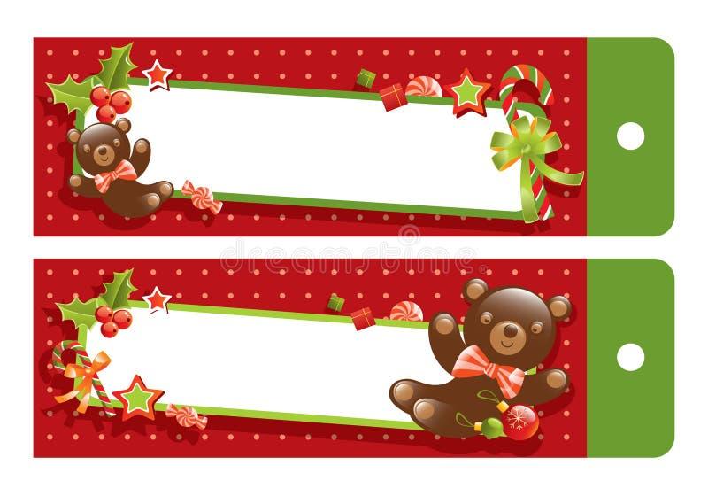 αντέξτε τα Χριστούγεννα teddy διανυσματική απεικόνιση